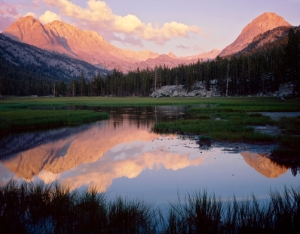 Mount Mendel, Mount Darwin and the Hermit, Evolution Valley, Kings Canyon National Park, Sierra Nevada, California